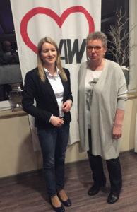Foto: Kathrin Wahlmann (MdL) und AWO-Vorsitzende Ingrid Hoppe.