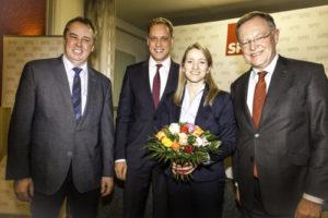 Foto: Werner Lager, Wiard Siebels, Kathrin Wahlmann und Stephan Weil.