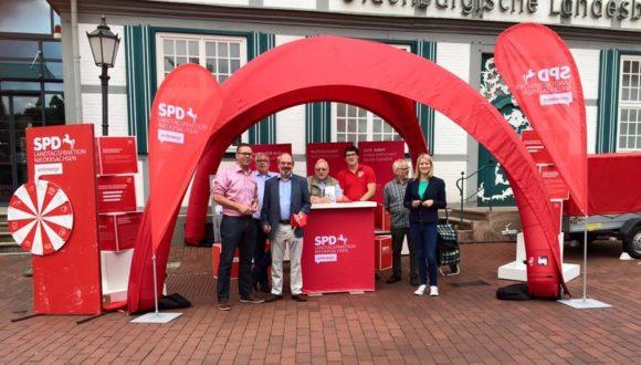 Fraktion vor Ort in Quakenbrück: Kathrin Wahlmann informiert über Landespolitik